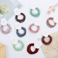 10pcs Elastic Hair Ties Rope Wome's Hair Bands Girls Ponytail Holder Headwear