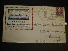 USS BLACK HAWK AD-9 Naval Cover 1935 SAIGON, VIETNAM FRENCH INDOCHINA Cachet
