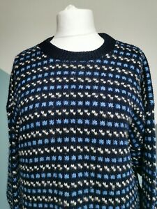 DEVOLD of Norway Chunky Knit Wool/Viscose Blend Winter Jumper blue