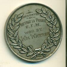 WW2 UFM Portage laprairie silver medal Shot Down 1942