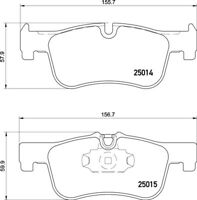 DON Branded Brake Pad Set PCP1216 - PART OF MINTEX RANGE - 5 YEAR WARRANTY