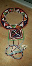 Female Kwanzaa Kenya Masai African Beaded Wedding Collar Necklace