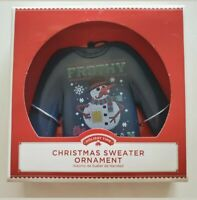 Ugly Sweater Ornament Frothy Frosty NEW