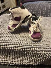 Jordan Toddler Retro 6 White Grape Black 645127-127 Size 5.5C