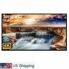 200-inch Large Projector Screen 16:9 Hanging Projection Screen Movie Screen