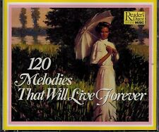 READERS DIGEST - 120 MELODIES THAT WILL LIVE FOREVER - MINT 4 CD  BOX SET