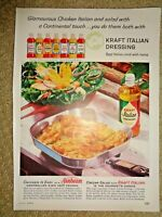 Color 1961 Vintage Print Ad Kraft Italian Salad Dressing Sunbeam Frypan Magazine