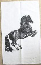Horse Tea Towel - Linen/Cotton Blend Tea Towel *Aust Design Natural Colour