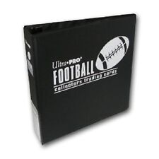 "Lot of 10 Ultra Pro 3"" Football Card Binder Collector's Album Black Binders"