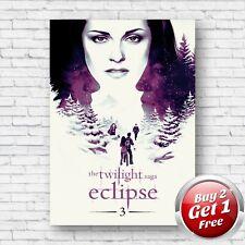 Twilight Saga Eclipse 2010 Film Movie Poster A4, A3, A3+ Borderless Art Print