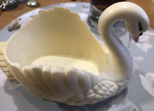 Vintage Plastic White Swan
