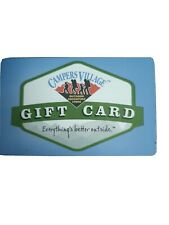 Campers Village Gift Card just verified $100 Canadian