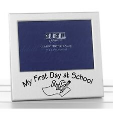 My First Day at School Picture Photo Frame - Satin Silver- Early Year Memories