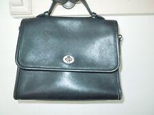 COACH Black Leather Court Bag Satchel - NO STRAP No. 9870