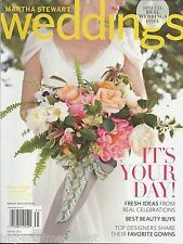 Martha Stewart Weddings magazine Best beauty buys Favorite designer gowns