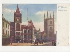 Reading St Lawrences Church & Town Hall 1903 Tuck Postcard 418a
