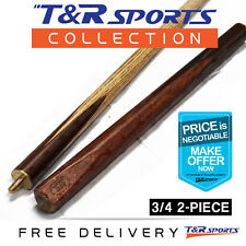 """57"""" 3/4 three-quarter 2-Piece hty Ash Snooker Cue for Pool Billiard 7.5mm Tip"""