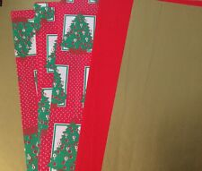 ART PAPER VARIETY Pack x 15 A4 Sheet GOLD RED PRINTED XMAS mix craft single side