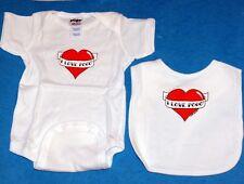 POGO ELECTRONIC ARTS Baby Infant Toddler CLOTHING BODYSUIT and BIB SET 6 Mos New