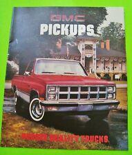 1981 GMC PICK-UP TRUCKS DLX COLOR CATALOG Brochure SIERRA GRANDE Diesel 4WD Xlnt