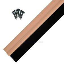 Draught Excluder Door Bottom Brush Strip Sweep Seal 3 Pack Strong Wood Effect
