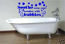 SOOTHE AWAY  BATHROOM VINYL WALL ART STICKER BATH