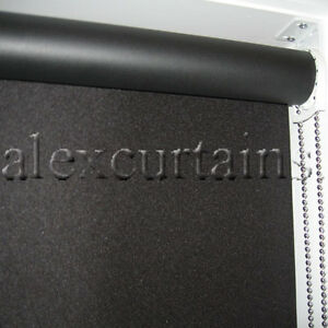 Roller Blinds, 180x210cm, Blockout Fabric - Bermuda, Colour: Black, Metal Chain