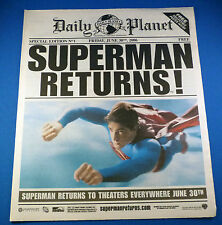 Comic Superman Returns Daily Planet Movie Prop Newspaper Limited Edition Promo