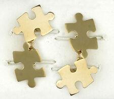 Puzzle Gemelos Oro Amarillo Macizo hecho a mano Contraste