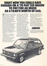 1976 Fiat 128 Wagon - Worth - Classic Vintage Advertisement Ad D148
