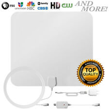 Leaf Paper Thin Indoor HDTV Television Amplified HD TV Antenna 60 Mile 16FT MA