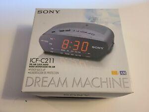 Sony ICF-C211 Dream Machine AM/FM Alarm Clock Radio New NIB NOS