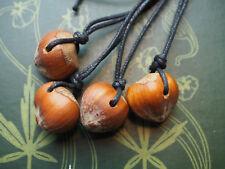 English Hazel Nut Talisman Pendant for Wisdom - Pagan, Wicca, Ogham, Ogam, Coll