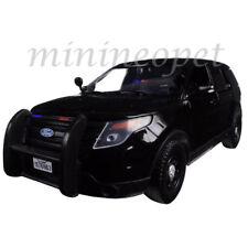 MOTORMAX 76963 2015 FORD UTILITY INTERCEPTOR 1/24 UNMARKED POLICE CAR BLACK