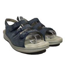 SAS Tripad Blue Suede Strappy Leather Slingback Sandals Comfort Adjustable 8W