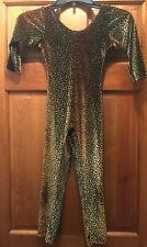 Vintage Leopard Cheetah Cat Polyester Spandex Unitard Bodysuit Costume Usa Made