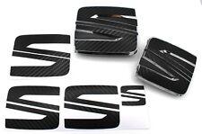 Pellicola EMBLEMA SEAT LOGO Set Vo + Hi nero in carbonio per Seat Leon Cupra 5f SC ST FR