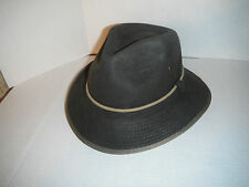 Mens WOOLRICH Wool Felt FEDORA SAFARI OUTBACK Hat BROWN LARGE 02ab2940254
