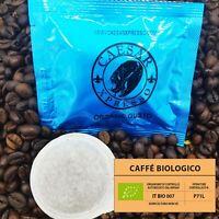 100 Italian Espresso ESE pods, Organic Gusto, Strong espresso, Arabica