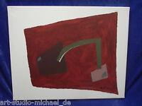 """Michael Feicht (geb. 1959 )""""Komposition mit figurativen Flächen auf rotem Grund"""""""