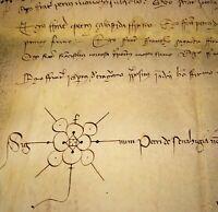 CENSUSES OF FARM VIRGILI, SANT CUGAT DEL V. . PARCHMENT. CATALUNYA. SPAIN. 1389