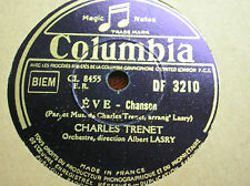 78 trs-rpm-Charles TRENET- Eve - COLUMBIA DF 3210