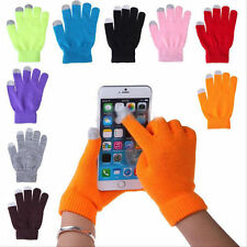 Women Men Warm Winter Knit Touch Screen Gloves Full Finger For Smartphone iPad