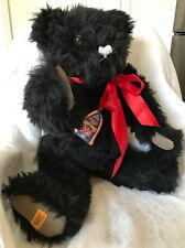 "Merrythought - Large 25"" Black Jointed Teddy Bear - Made in England"