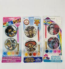 Paint & Display Suncatchers Disney Princess Little Pony Toy Story Lot Of 3 New