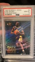 1996-97 Skybox E-X2000 Star Date 2000 Kobe Bryant Lakers RC Rookie PSA 10
