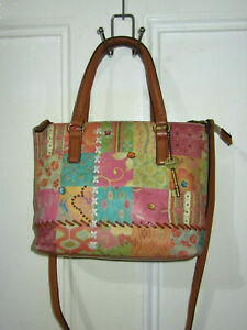 FOSSIL Printed Leather Crossbody  Bag