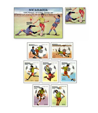 NIC82012 Football 8  stamps and block