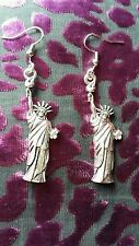 """Handmade Statue of Liberty Earrings (""""antique silver"""")"""