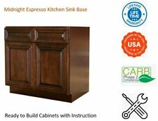 Midnight Espresso Kitchen Sink Base Cabinet